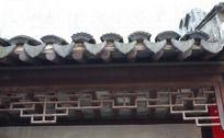 古镇同里古代屋檐雕花