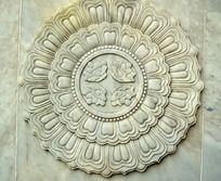 宝林寺的莲花浮雕图案
