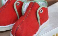 红色手工保暖鞋