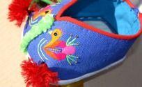 蓝色小鸟手工鞋