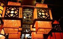 传统的方形宫灯