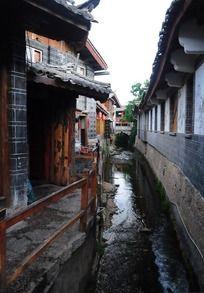 古城小巷小溪流水