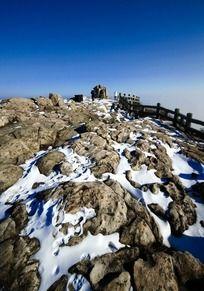 泰山地质公园雪景