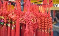 新年红色中国结挂饰