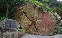 抗法英雄刘永福书写的虎字石刻