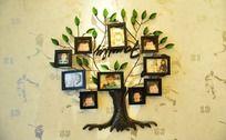 树形照片片墙
