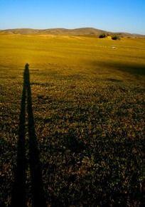 草原上的影子