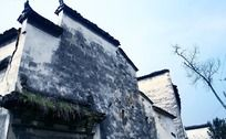 徽派建筑残破的墙壁
