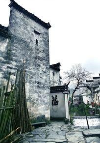 婺源徽派特色建筑大墙