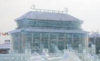 宏伟的宫殿冰雕