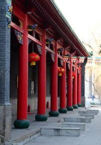 中国式古建筑长廊
