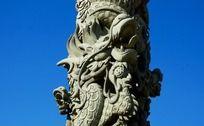 龙柱雕刻特写