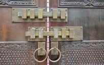 古老大门枢轴门闩