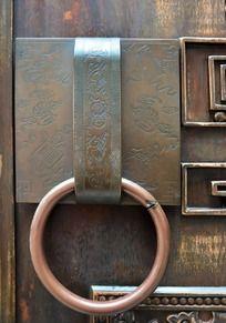 古老大门铜门环