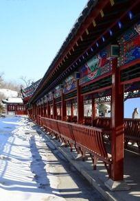 古长廊雪景