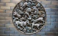铜雕艺术麒麟