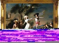 珍藏版宫廷油画喷绘稿