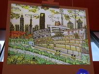 上海世博会中国馆插画