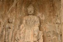 龙门石窟佛像特写
