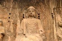 龙门石窟石刻佛像