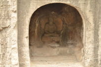 洛阳龙门石窟大佛雕塑