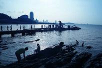 烟台海滨浴场剪影