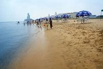 烟台蓬莱阁海岸线风光