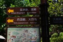 动物园里的指路牌