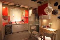 橘色的厨房餐厅
