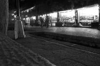 大理古城街道夜景