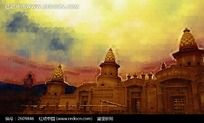 欧式建筑画