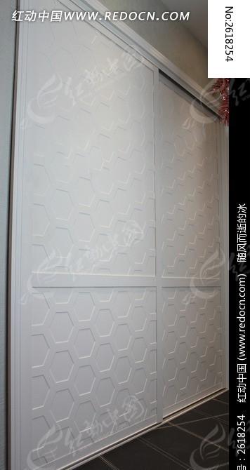 白色推拉衣柜门图片,高清大图