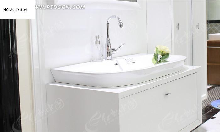 纯白色洗漱台图片,高清大图_时尚家居素材