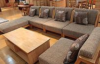 灰色布艺沙发组合