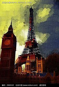 巴黎风情油画