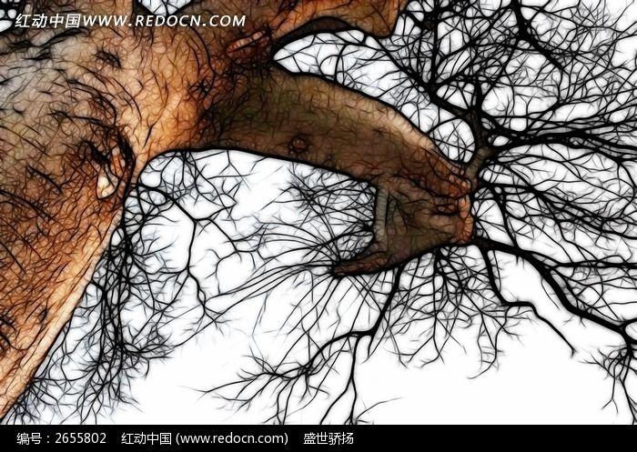 原创摄影图 艺术文化 插画绘画 大树图片