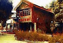 红墙特色建筑