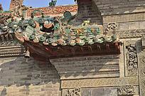 古建筑屋檐雕刻