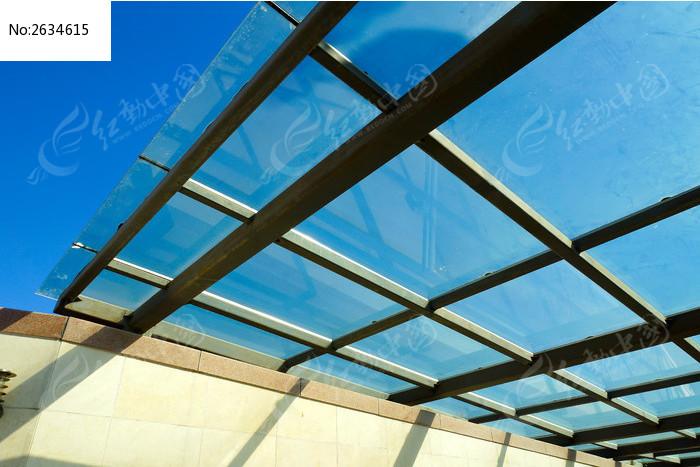 建筑玻璃顶局部结构图片