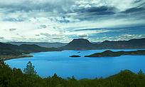 泸沽湖全景图