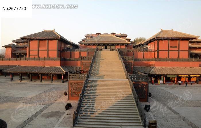 www777吉吉影视_焦作影视城周王宫长长的石阶