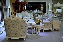 时尚客厅里的欧式家具