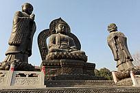 圆融寺佛祖和其弟子像