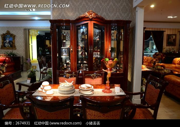 《中国式红木餐厅家居设计效果图》[jpg 7.47 mb]图片