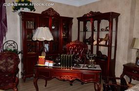 中式古典书房效果图