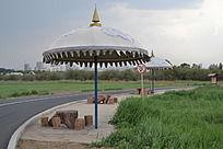 蒙古图案大伞