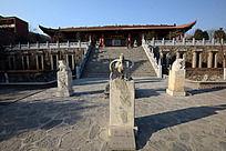 圆融寺四神兽雕像
