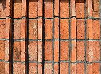 橘色砖墙背景素材