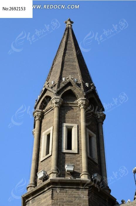 塔尖欧式建筑施工图