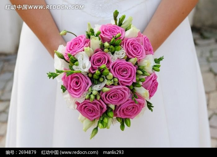 新娘手捧花花球图片